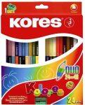 KORES Duó színesceruza 12db (24szín), 24db (48szín)