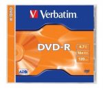 DVD-R írható VERBATIM 4,7GB, 16x, CD tok
